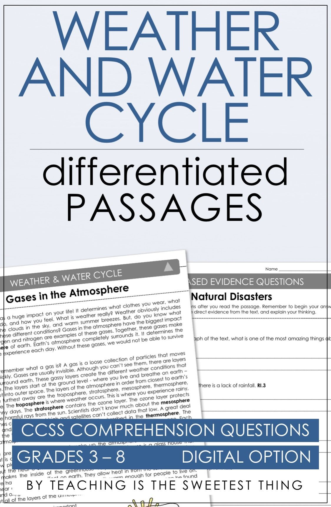 Weather Amp Water Cycle Passages