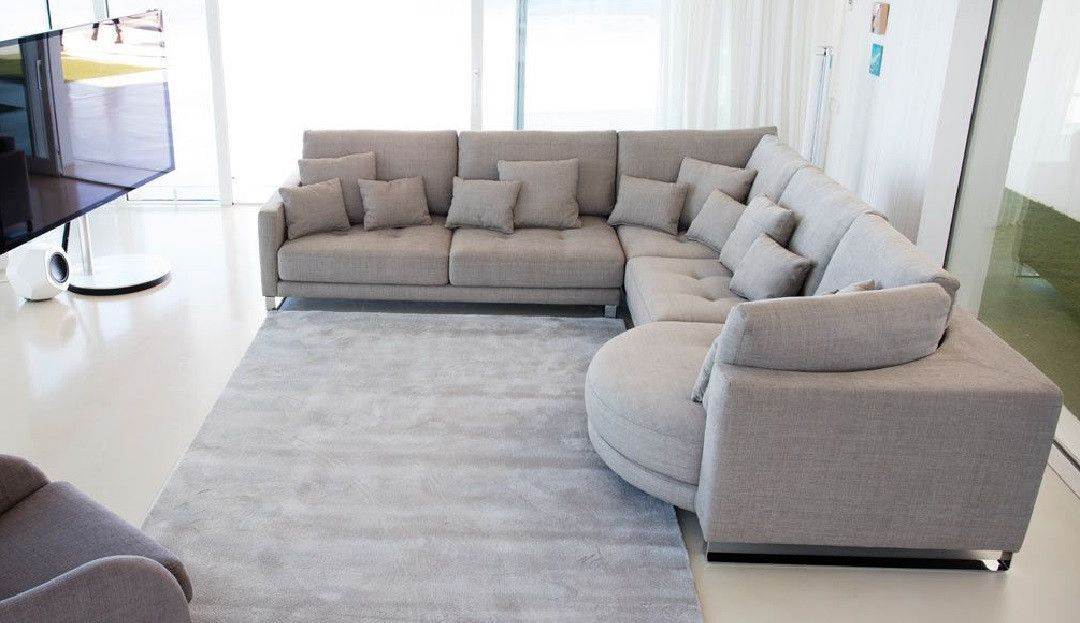 The Hollie Modular Large Corner Sofa with Curved Chaise Longue is a ...