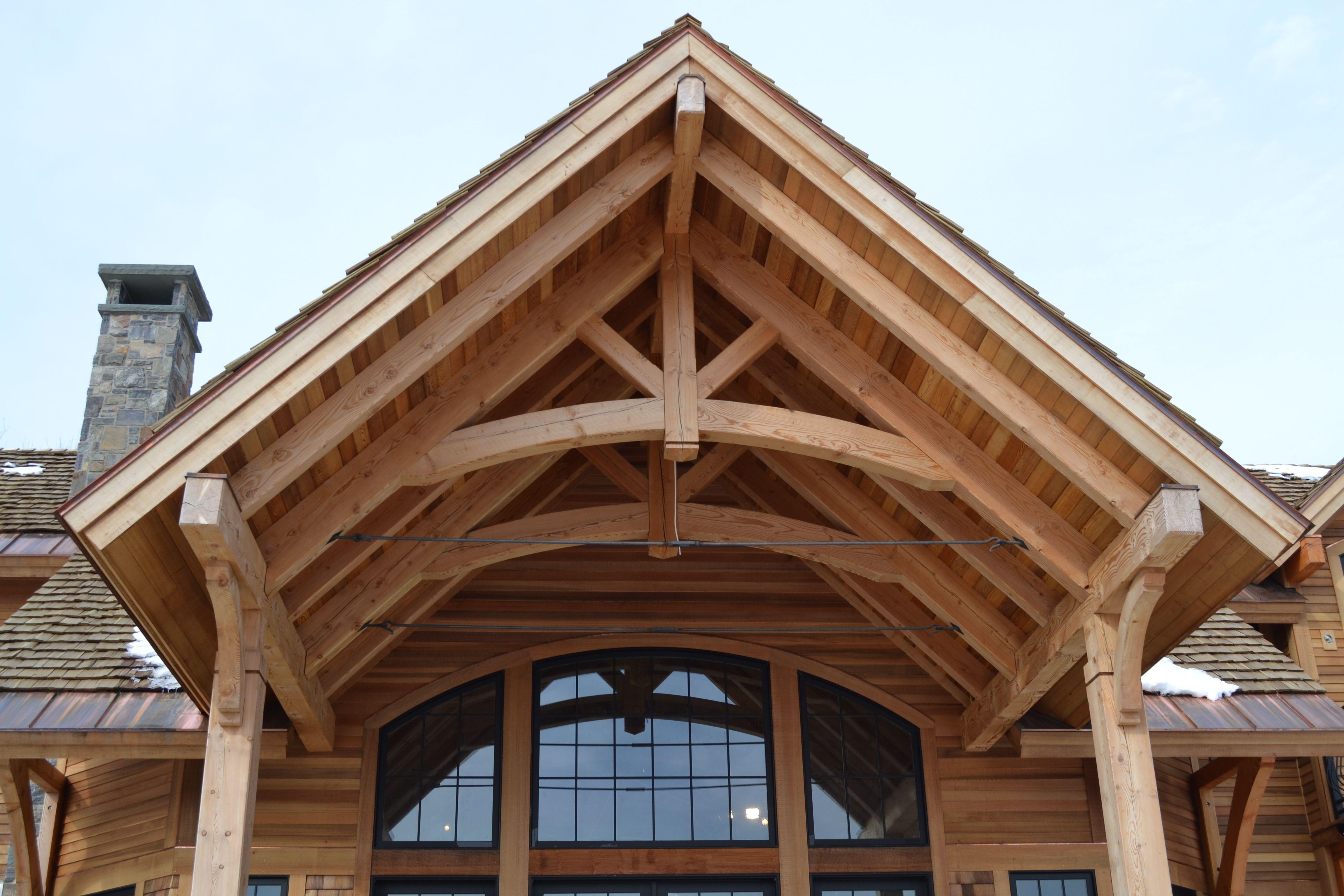 Timberframe Kingpost Truss Craftsman House House Styles