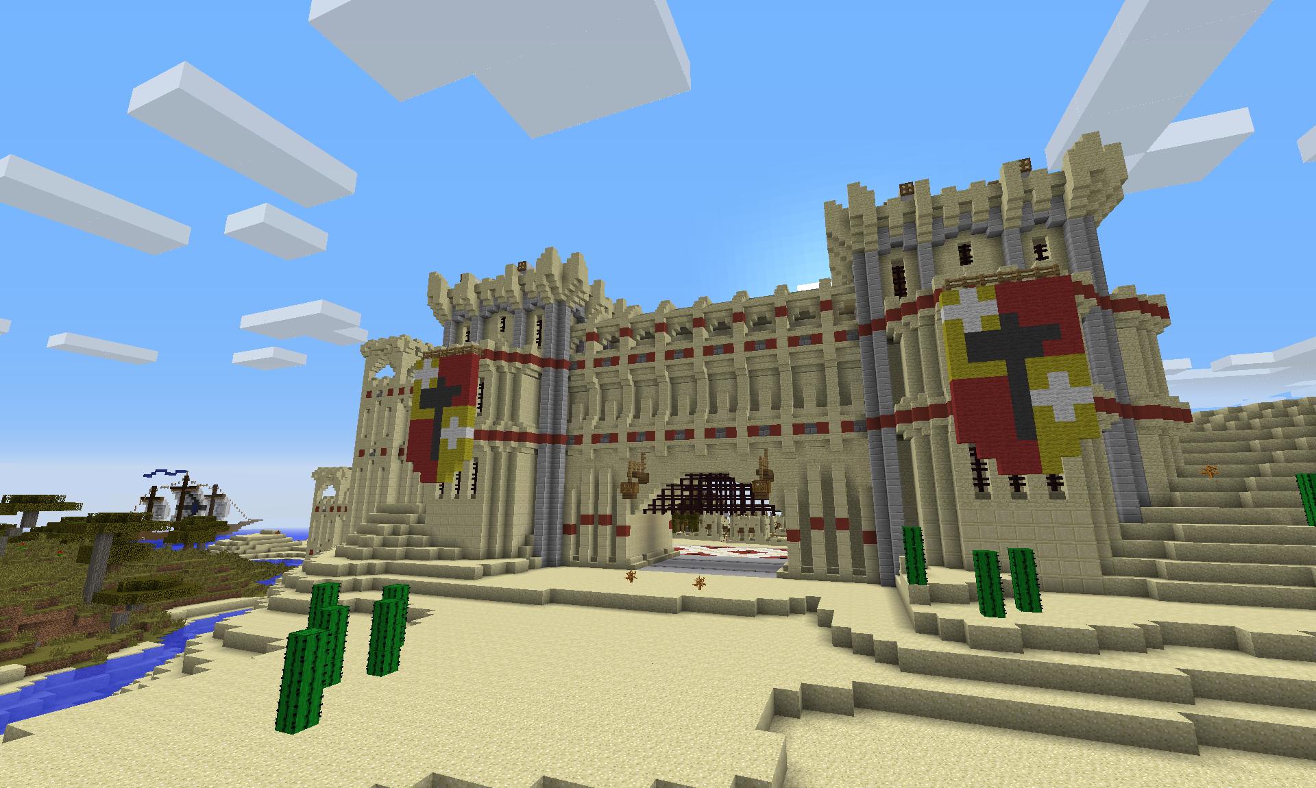 minecraft gate design. Plain Gate A Sandstone Castle Gate Design On Minecraft Gate Design