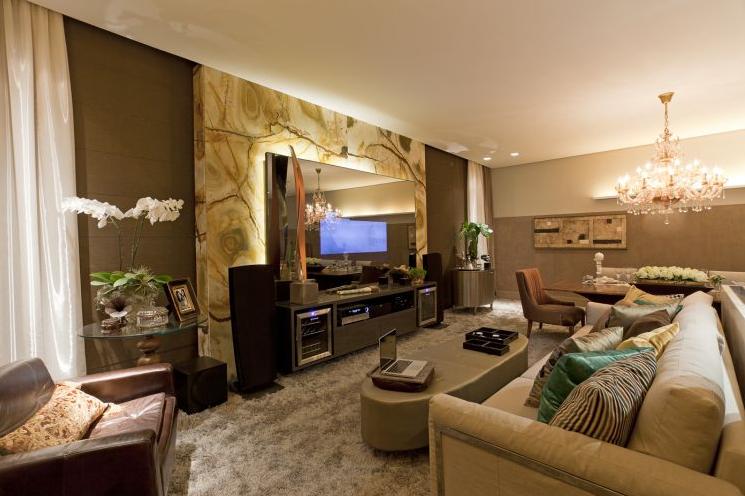Decoracao De Sala De Tv ~ de Decoração  Arquitetura  Construção  Paisagismo Salas de TV