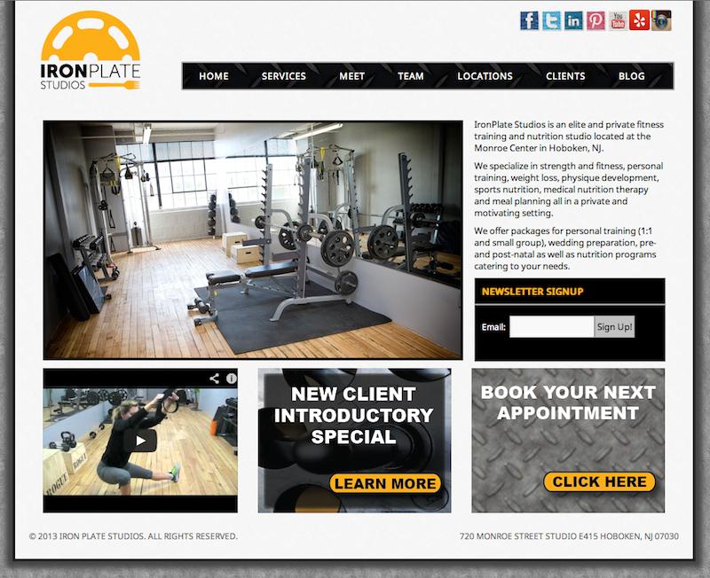 Gym Studio Web Design In Hoboken Http Ironplatestudios Com On Wordpress Content Management System Cms With D Web Design Content Management System Design