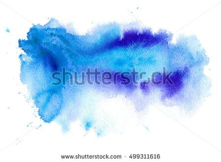 Blue And Violet Watery Illustration Abstract Watercolor Hand Drawn