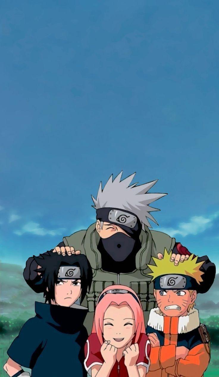 Team 7 Wallpaper Fond D Ecran Dessin Kakashi Naruto Naruto