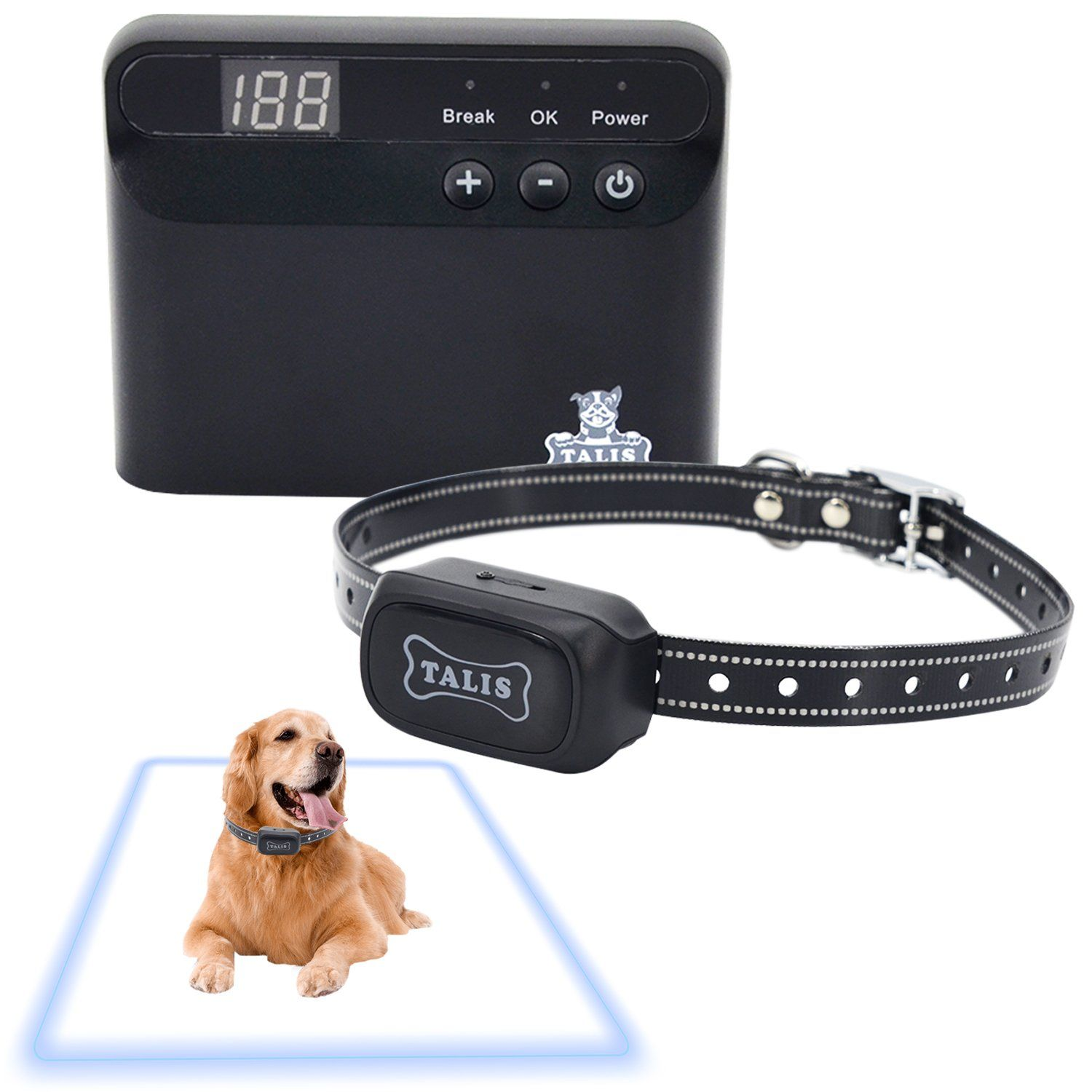 Dog Fence Wireless Electric Pet System Containment Collar 1 2