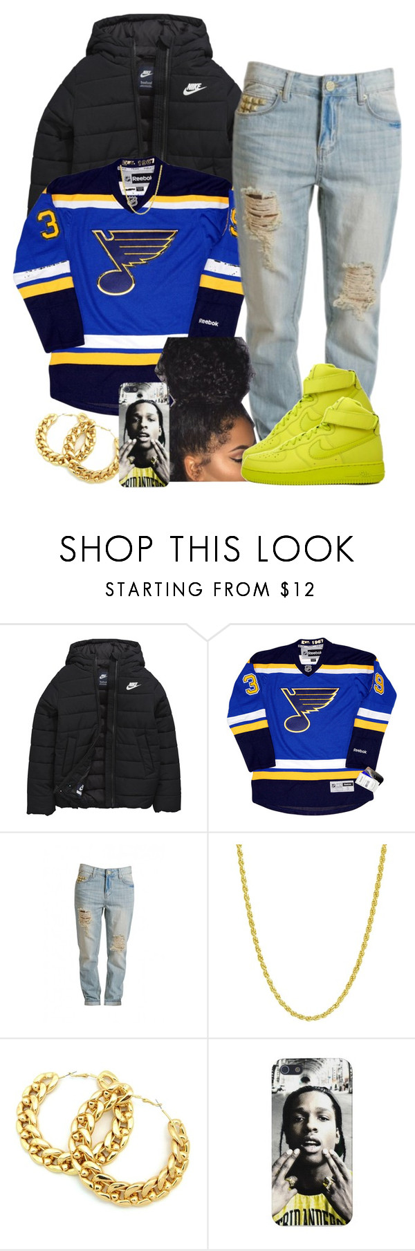 """""""Tomboy ASFFFFFF"""" by goddessnaii ❤ liked on Polyvore featuring NIKE, Retrò and Pori"""