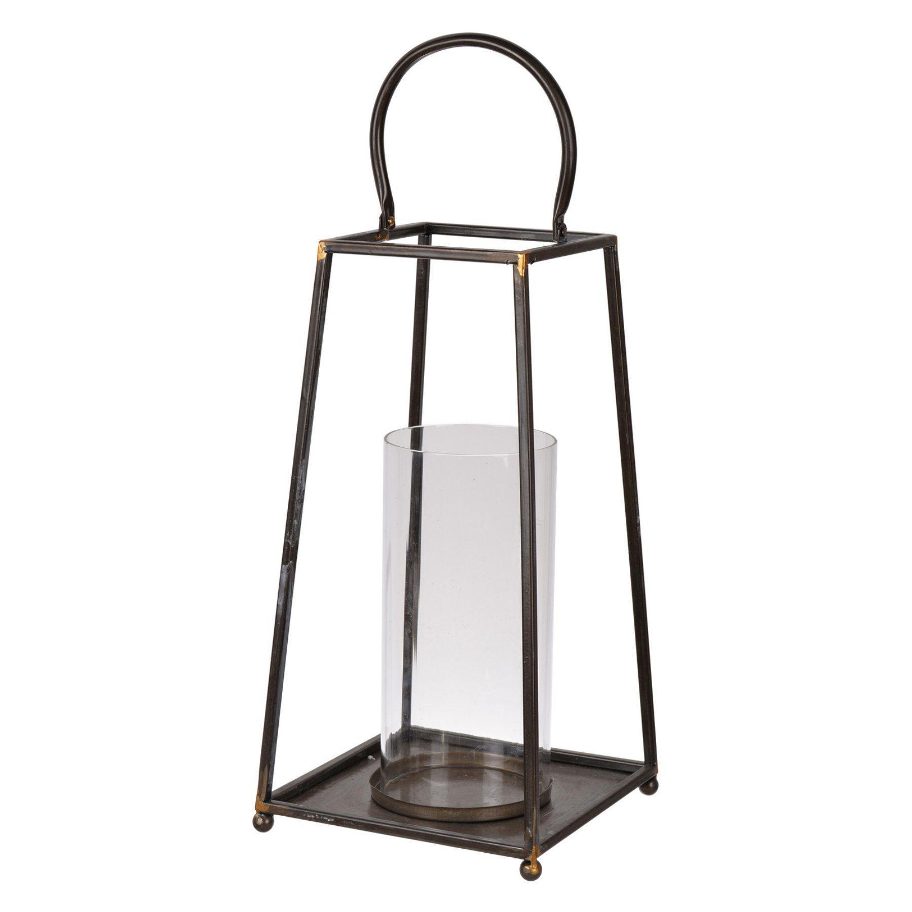A And B Home Sanders Metal Indoor Lantern  Hp42018