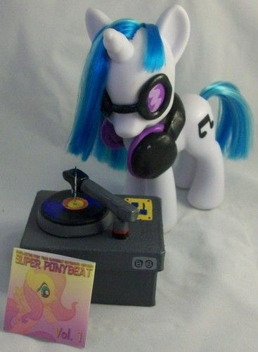 My Little Pony Fim Custom Fashion Style Vinyl Scratch Dj Pon 3 W Accessories Mlp Vinyl Scratch