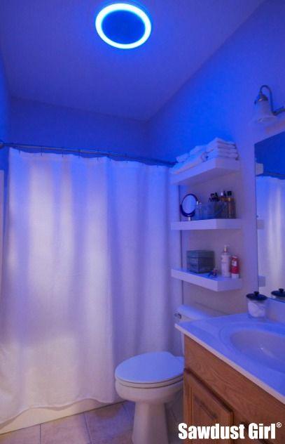 Bluetooth Speaker Led Light Bathroom Fan Giveaway Plus 100gc Sawdust Girl Shower Remodel Small Shower Remodel Small Bathroom Makeover