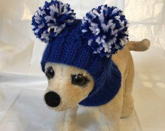 Ropa para mascotas ropa traje de invierno Crochet sombrero de