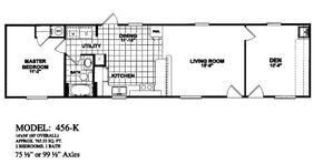 2 Bedroom 14×40 Mobile Home Floor Plans