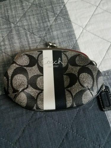 Coach black coin purse MINT CONDITION