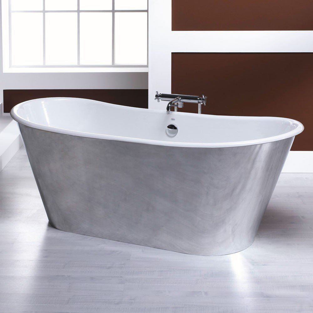Bella casa iris inch cast iron double ended clawfoot tub no