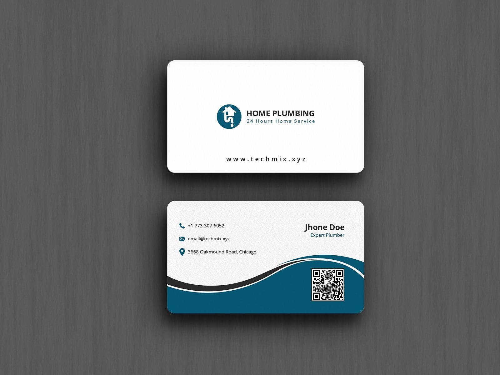 Best Plumbing Business Card Design Business Card Design Printing Business Cards Letterpress Business Cards