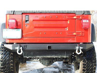 Jcr Off Road Wrangler Rear Bumper With D Ring Mounts Swbrs Tj 97