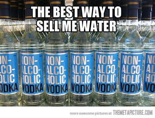 Non-alcoholic vodka