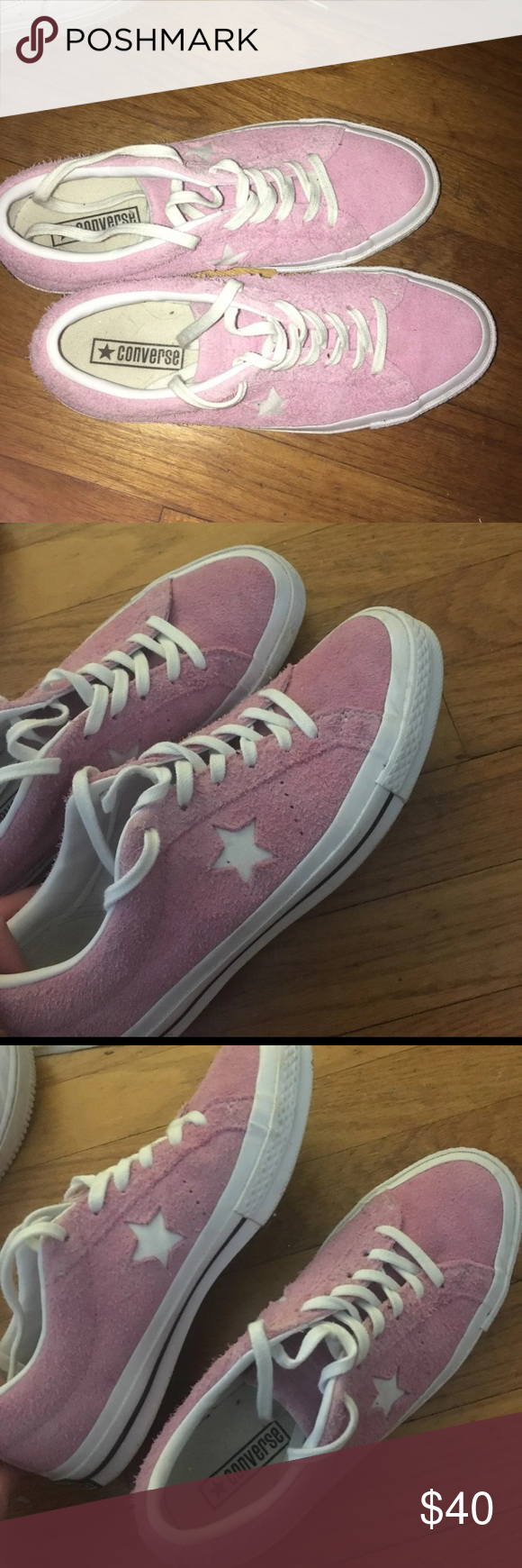 BRAND NEW PINK FUZZY CONVERSE ONE STAR