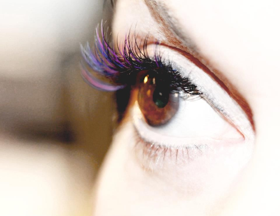The Best Purple Colored Eyelash Extensions Images