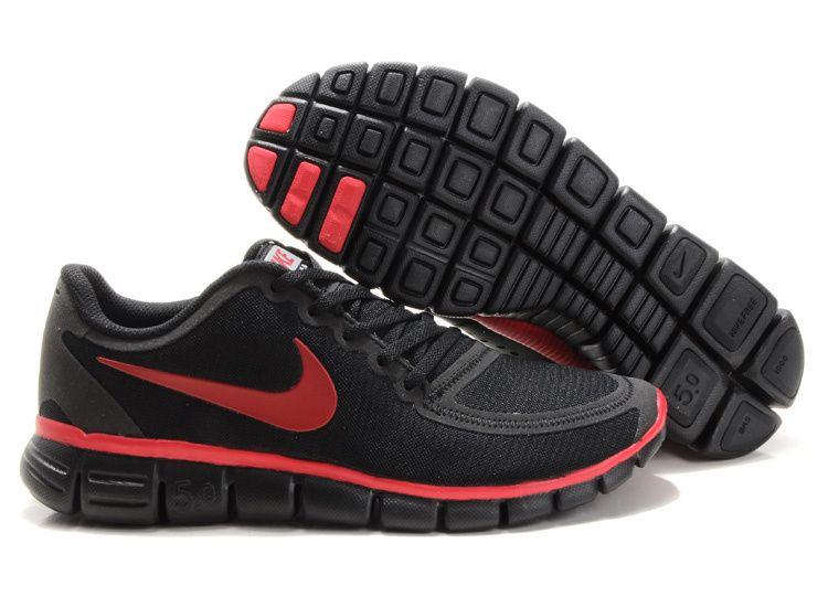 Fake Nike Free 5.0 V4 Mens Army Black Rio Red 511282 014 $44.99