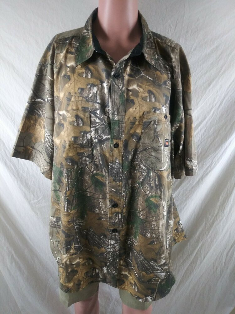 walls size 3x hunting vented realtree camo button front on walls coveralls camo id=58850