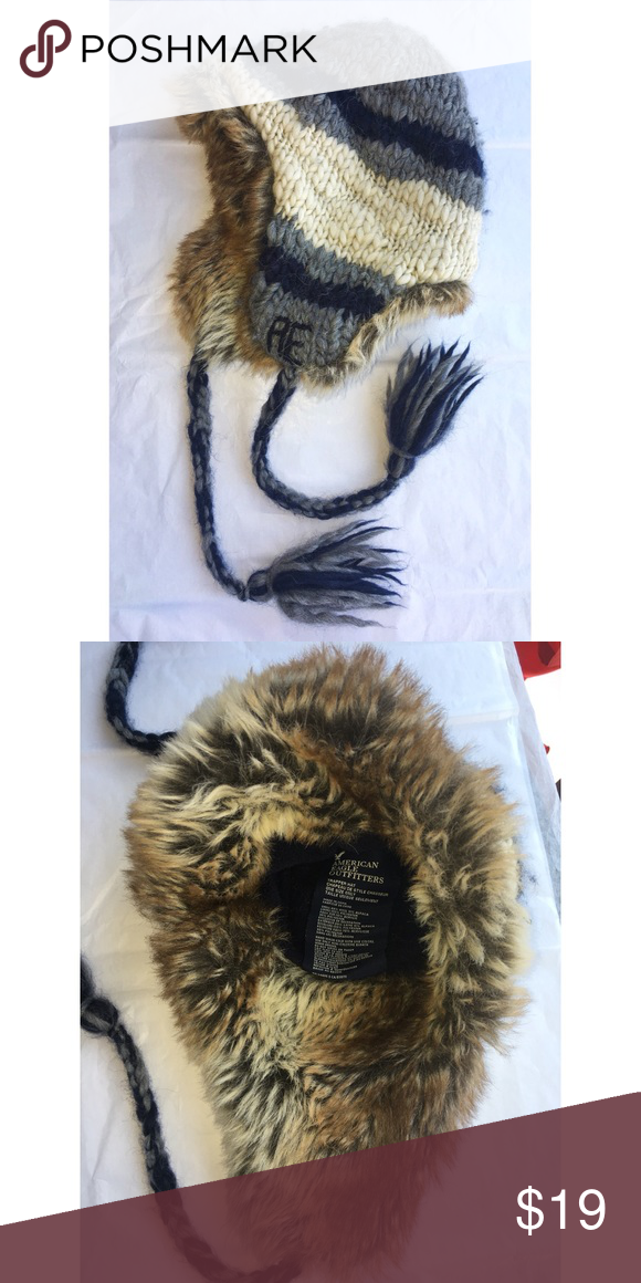 3113db7c89c1a AE Fur Winter Ski Hat American eagle outfitters trapper hat one size only  faux fur