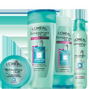 L Oreal Paris Elvive Extraordinary Clay Rebalancing Shampoo 12 6 Fl Oz Oily Roots Oily Hair Remedies Shampoo