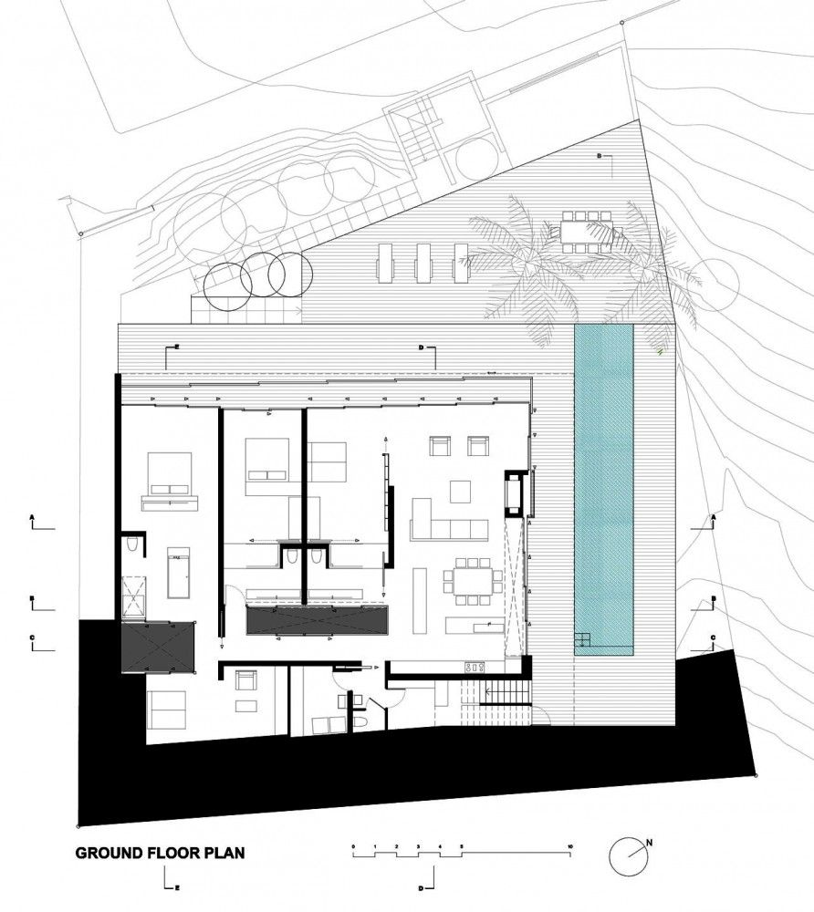 House In Camps Bay Luis Mira Architects Ground Floor Plan Floor Plans Architectural Floor Plans