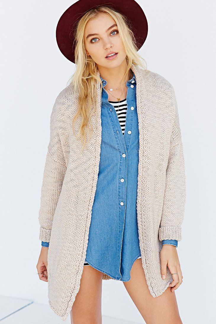 BDG Open-Front Cable Cardigan Sweater   Cable, Cardigans and ...