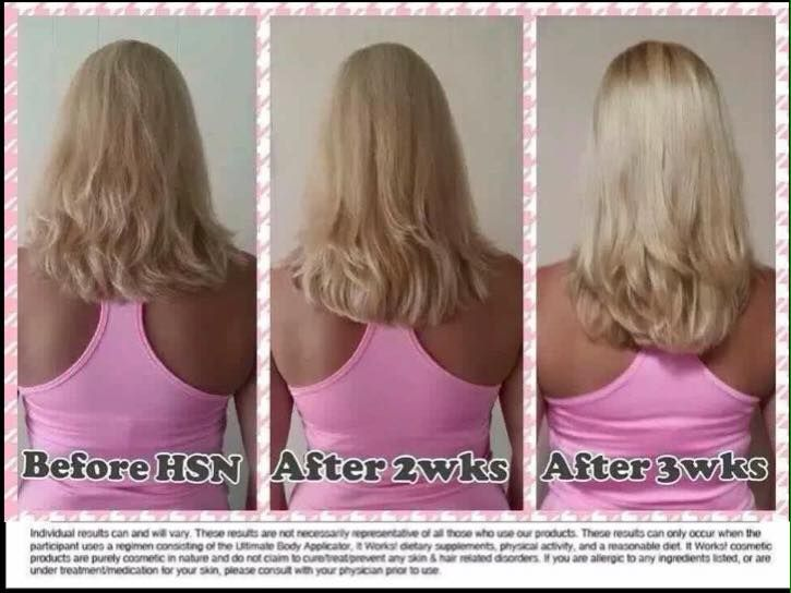 Awesome results for It Works Hair Skin & Nails Longer healthier hair Call or text 520-840-8770 http://bodycontouringwrapsonline.com/hair-skinnails