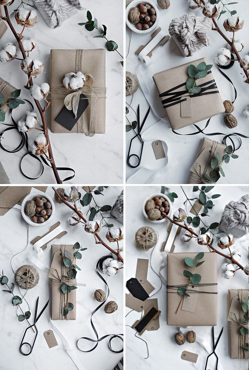 Scandinavian Christmas Gift Wrapping Only Deco Love Christmas Gift Wrapping Gift Wrapping Holiday Gift Wrap