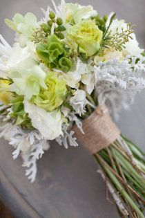 Casual Wedding Bouquet But With Blue Flowers