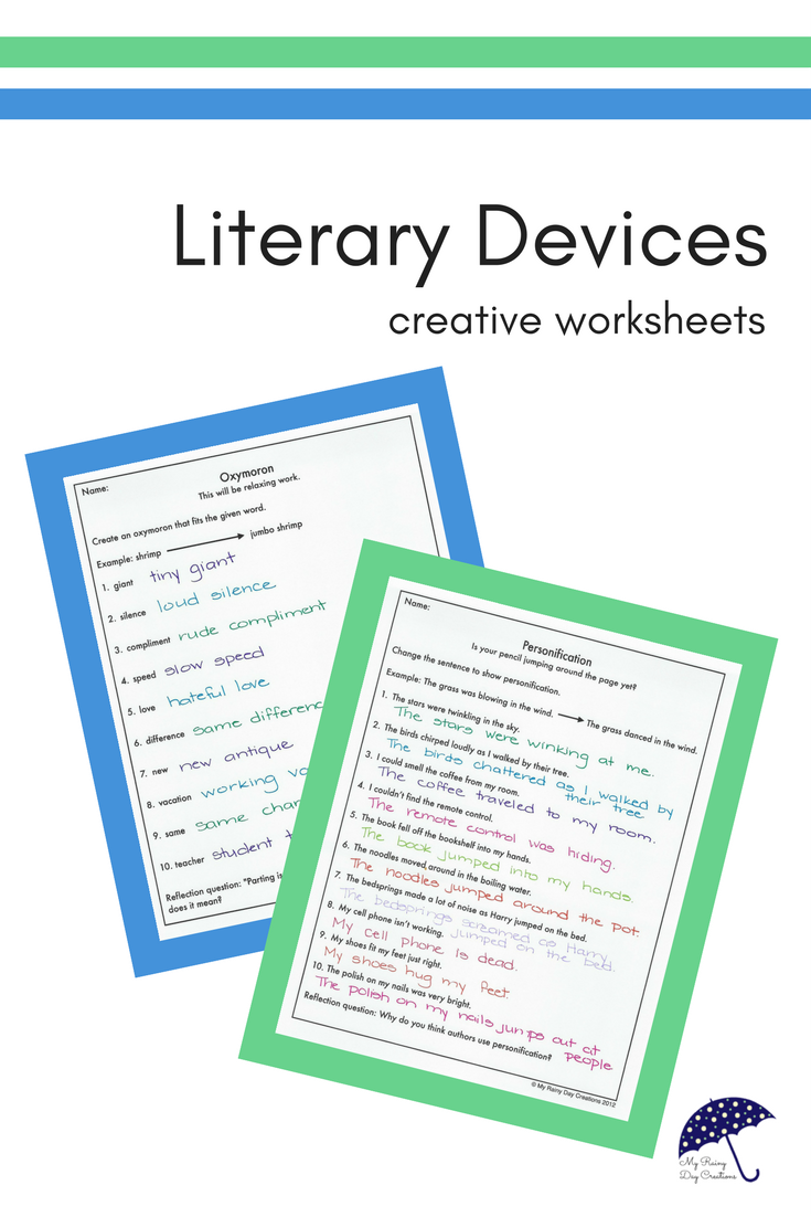Literary Devices Worksheets | Common Core 4th Grade