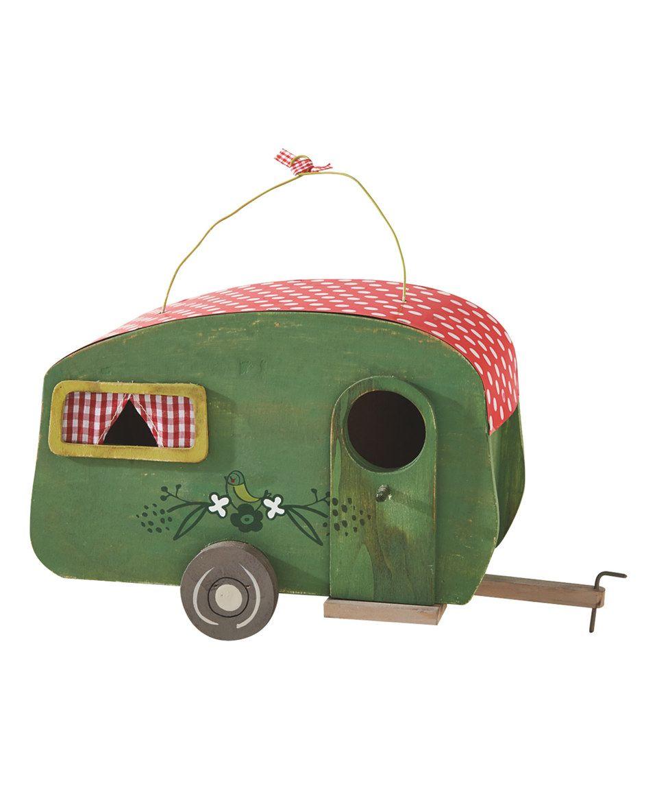 Look at this #zulilyfind! Green & Red Polka-Dot Camper Birdhouse by Midwest-CBK #zulilyfinds