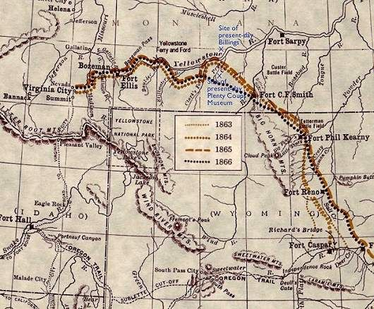 Bozeman trail Fort Phil Kearny Montana july 94 Western USA
