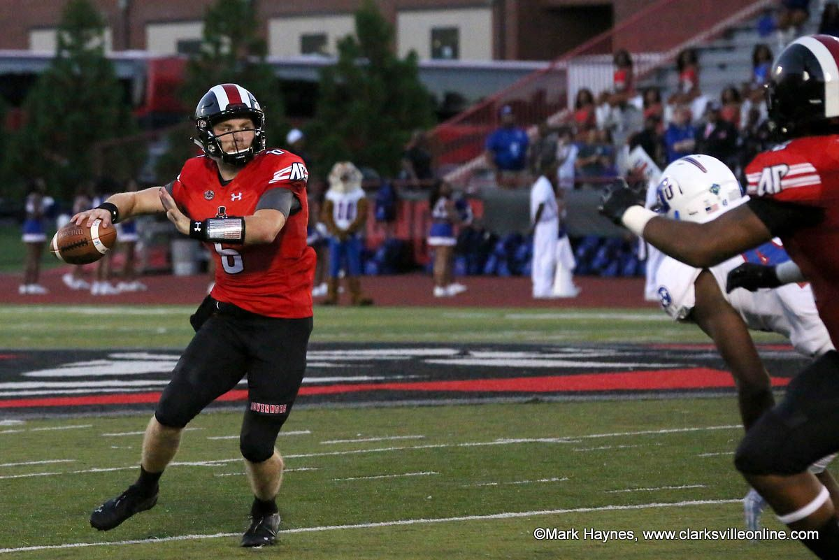 Apsu football beats tennessee state 4934 in front of