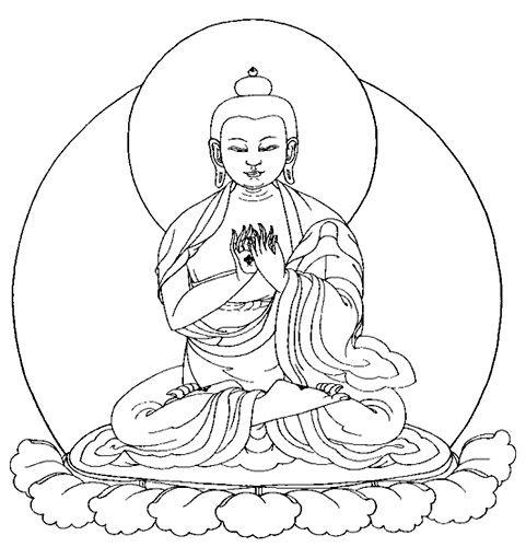 Buddhist Line Art Sakyamuni Buddha Image 2 Buddha Image Thangka Painting Art