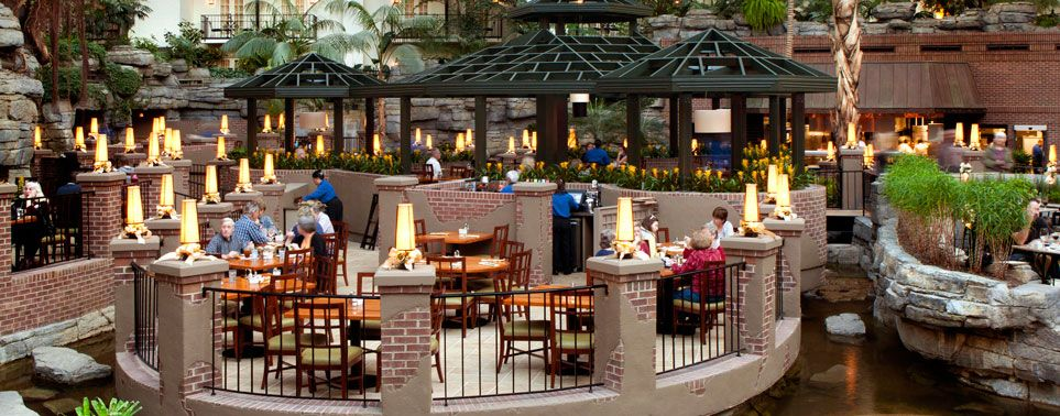 Cascades American Cafe Restaurant Great Place Seafood Opryland Hotel