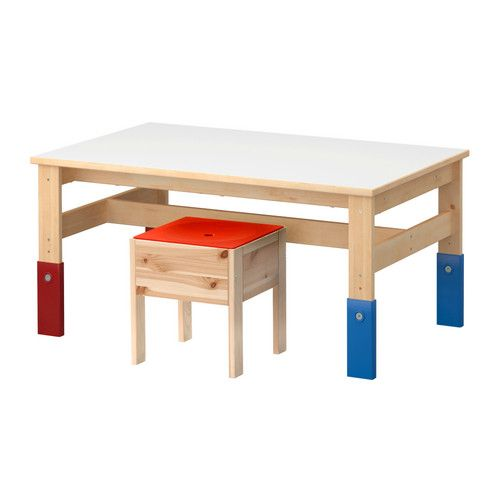 sansad children 39 s table ikea adjustable in three heights adapt as your child grows for the. Black Bedroom Furniture Sets. Home Design Ideas