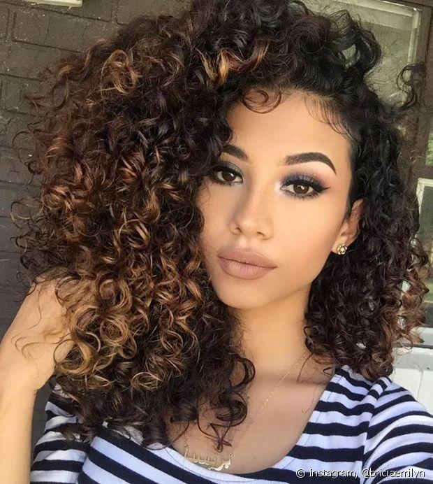 Resultado de imagem para ombre hair cacheado longo
