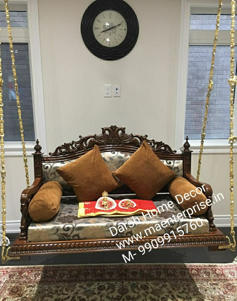 Pooja Mandir For Home Temple In India Usa Australia Ma Enterprise In 2020 Indian Swing Wooden Swings Wooden Garden Swing #swings #for #living #room #india
