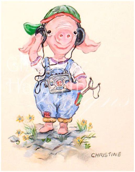 Pigling the Pog : Just-Grooving © Copyright Christine Haworth Designs