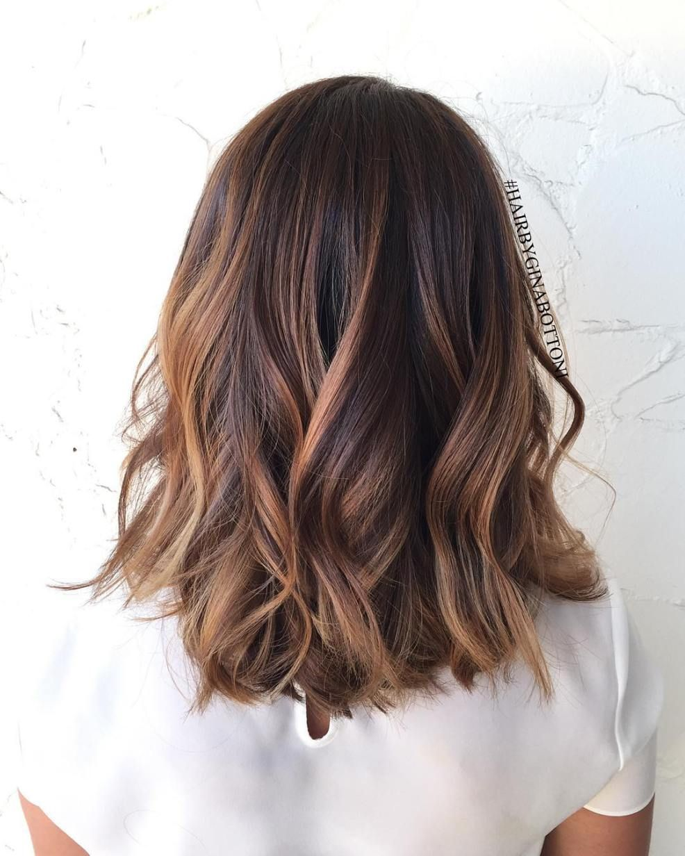 60 Looks With Caramel Highlights On Brown And Dark Brown Hair Brunette Hair Color Hair Styles Chocolate Brown Hair Color