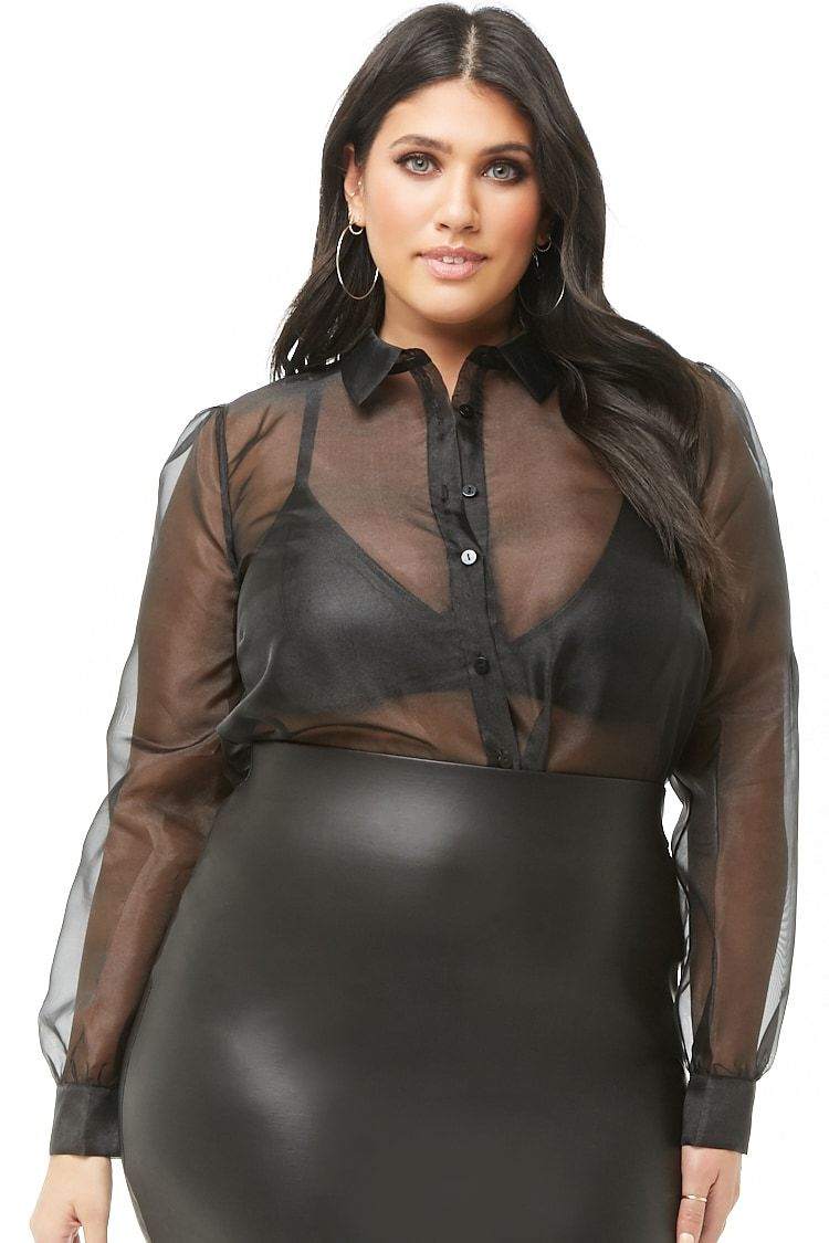 741a6d26626f31 Plus Size Sheer Sheeny Shirt in 2019 | Fatshion Wishlist | Plus size ...