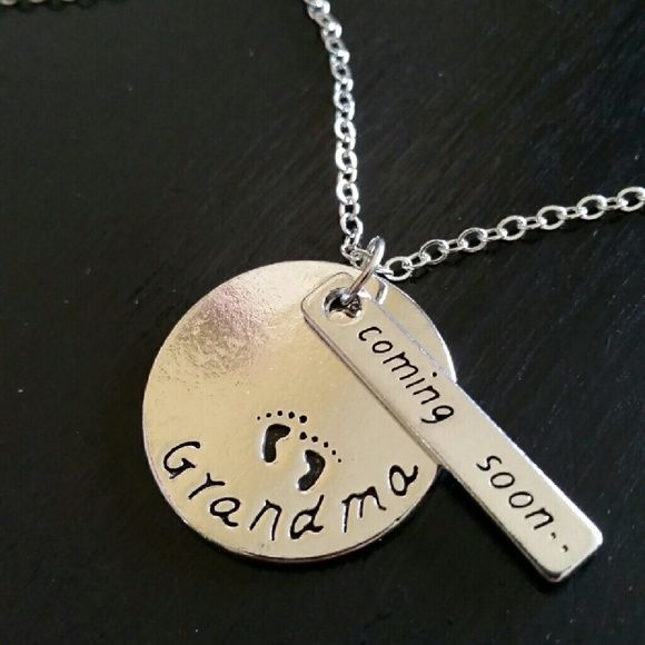 SOON TO BE GRANDMA NECKLACE Brand new silver necklace Jewelry Necklaces