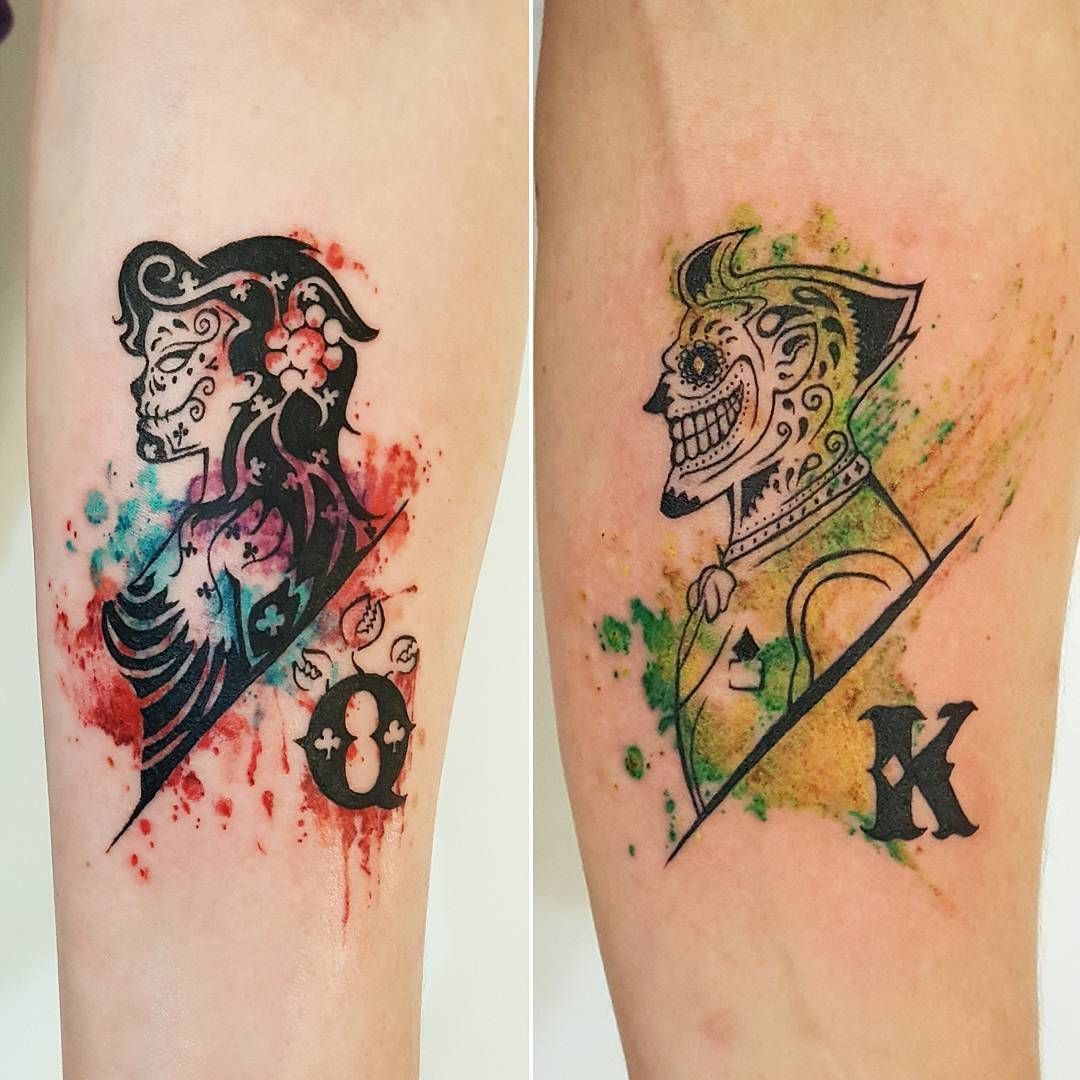 Matching Joker And Harley Tattoo: Pin By Chronic Ink Tattoo On WATERCOLOUR TATTOOS