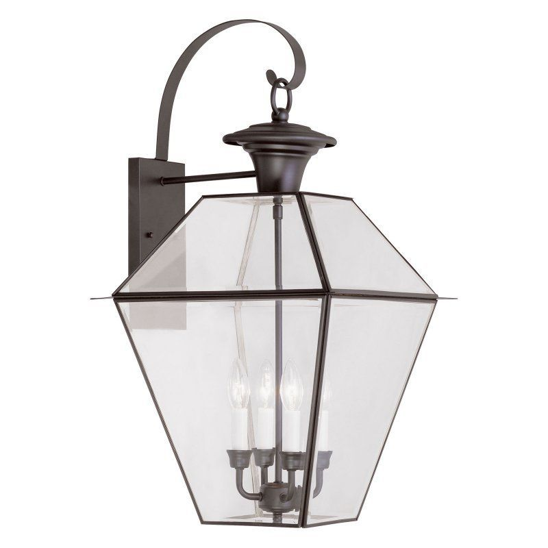 Livex Westover 2386-07 4-Light Outdoor Wall Lantern in Bronze - 2386-07