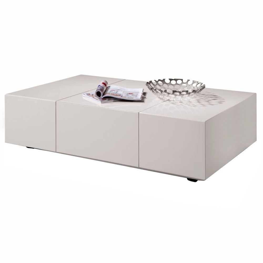 ju0026m furniture coffee table in taupe gloss