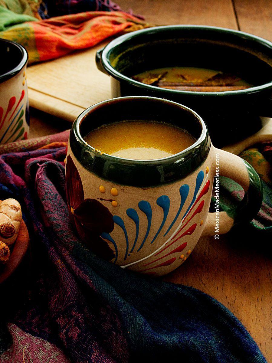 How to make turmeric tea golden milk mexican made