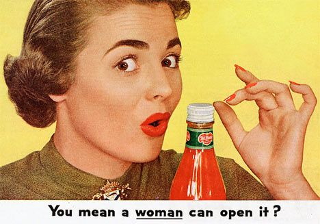 SEXIST.  Advertising in the 1950's..
