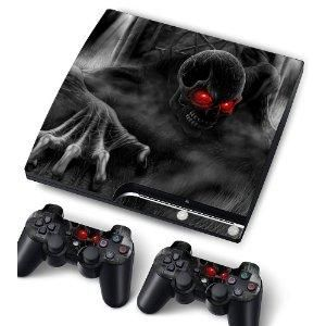 Vinyl Skin Sticker For PlayStation PS3 S SLIM Game Console -Cover Protector Art Decal